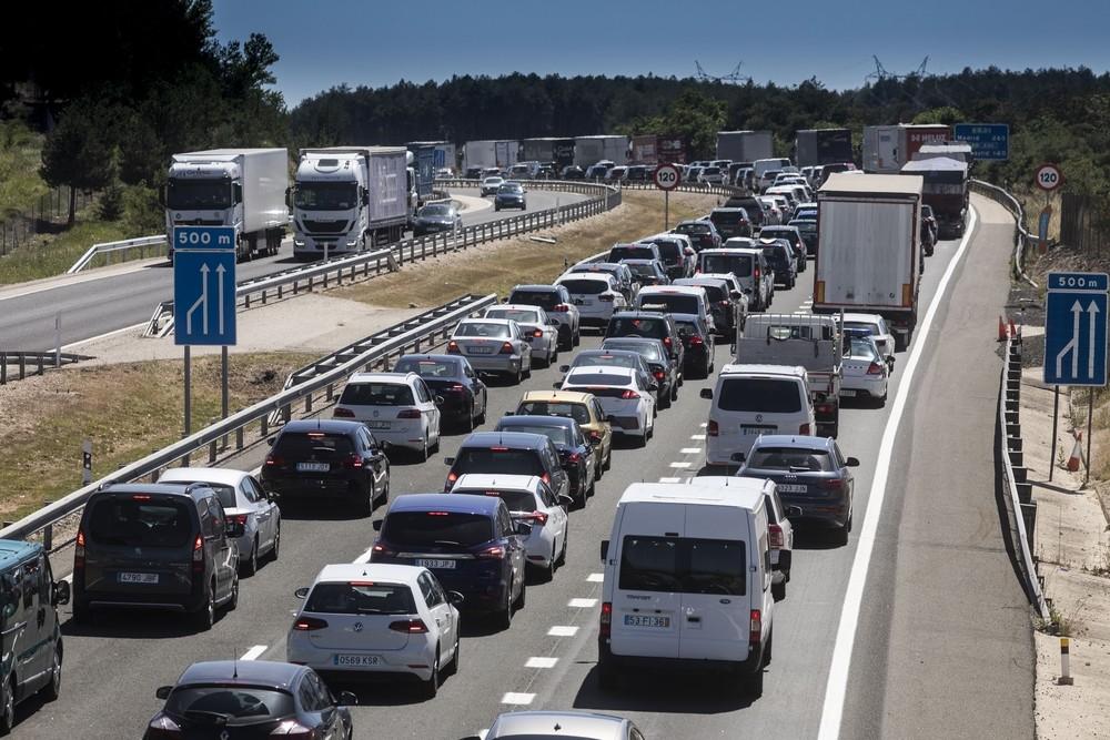 alto transito en las carreteras valladolid